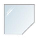 Ahju/kaminaesine plekk või klaas