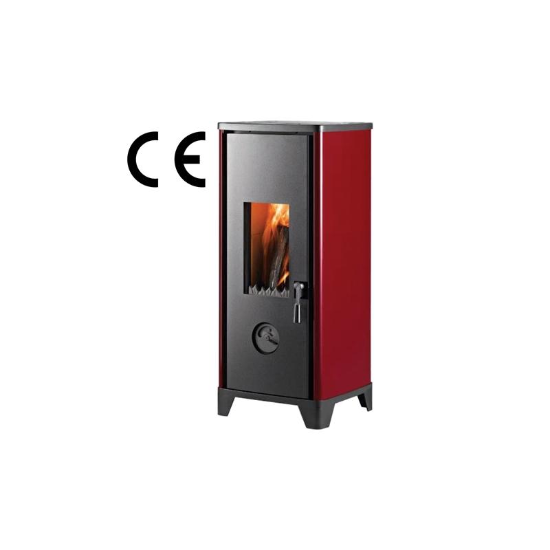 Kamin HTT HOHTO , Punane, sisemõõt; 356 x 400 mm, 7 KW, kõrgus 902 mm