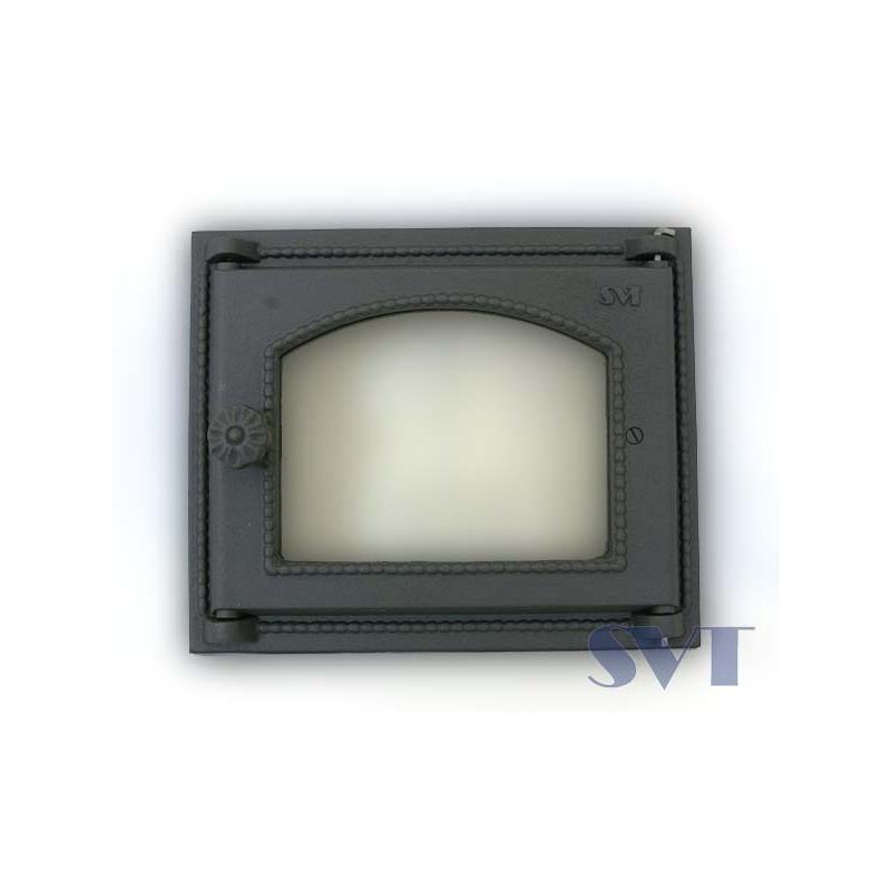 Praeahju uks klaasiga Sisemõõt:240x280mm, Välismõõt:285x342mm