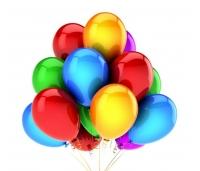 Värvilised õhupallid, 25 tk,