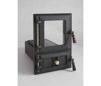 Pliidiuks 581 (klaasiga, tuharesti ja -kastiga) kuldsed detailid, puidust käepide