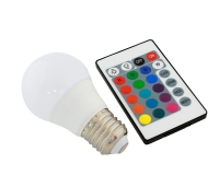 RGB+W LED-lamp puldiga E27 3W