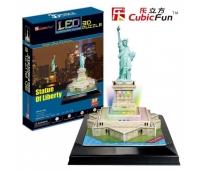 3D pusle Vabadussammas (LED-Valgustusega)