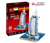 Puzzle 3D - Hotell Burjal-Arab- 44 osa.
