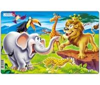 Loomaaed puzzle 14 tk, plaatpusle