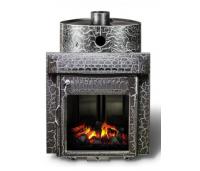 Saunaahi Harmonia Antiik (küttevõimsus 12-30 m3/ 25kW) kütmine teisest ruumist