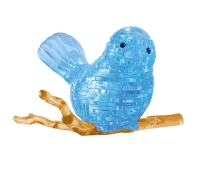 3D pleksiklaasist pusle - Sinine lind - 48 osa
