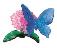 3D pleksiklaasist pusle - lill ja liblikas - 38 tükki