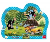 Dino siluett plaatpuzzle 25 tk Mutt