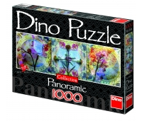 Dino panoraampuzzle 1000 tk. Lilled