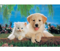 Koer ja kass puzzle 200 tk