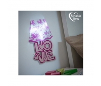 Romantic Items LED Heart Wall Sticker