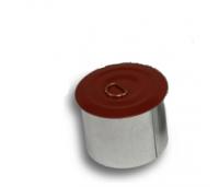 Tahmatopp ümar, Ø125mm, kivipunane