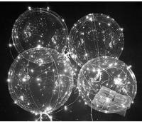 Õhupall, läbipaistev, LED VANIKUGA