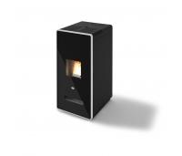 Pelletikamin Zelda 9kW – 80m2 kütmiseks, hall, must