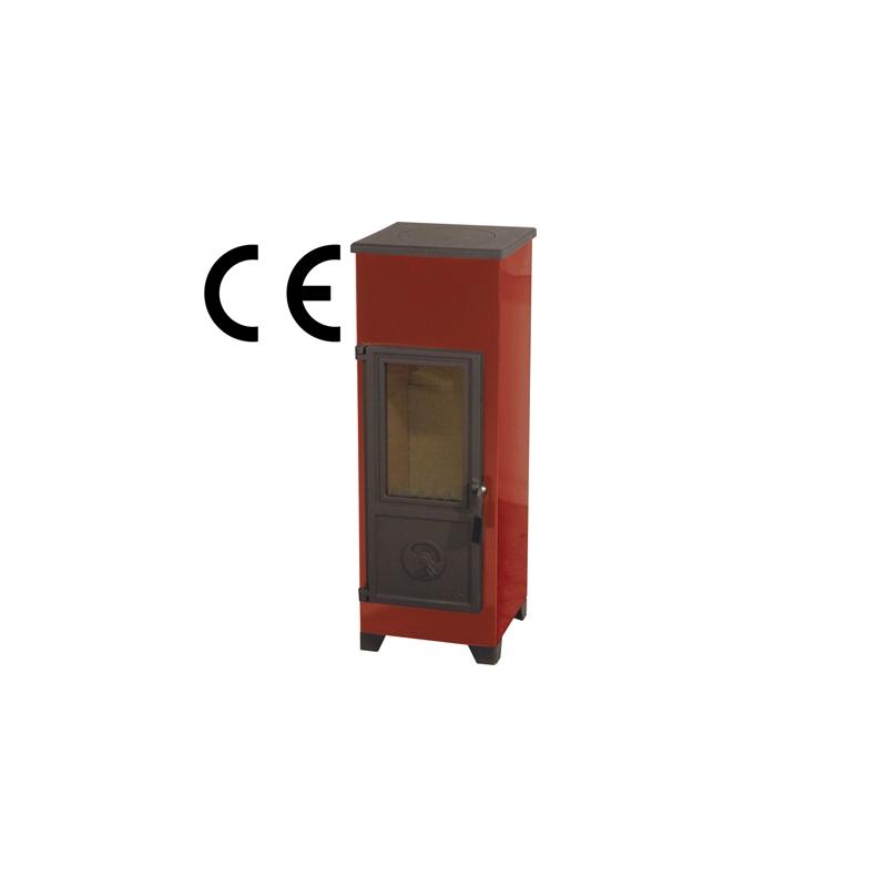 Kamin HTT KORPI , Punane, 315 x 330  mm, 7 KW, kõrgus 875 mm