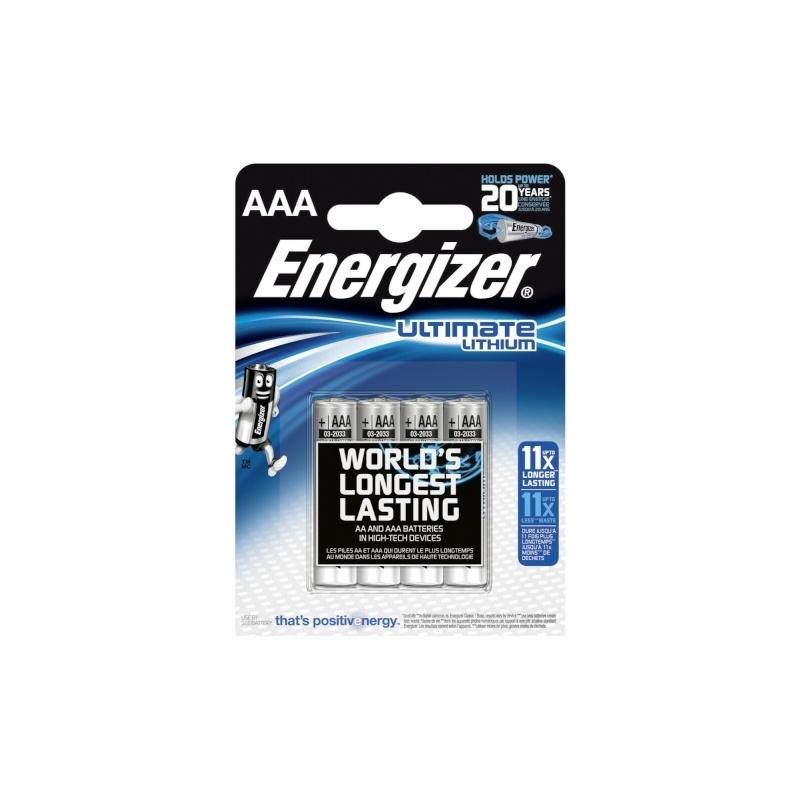 Energizer Ultimate Lithium AAA liitiumpatareid (4-pakk)