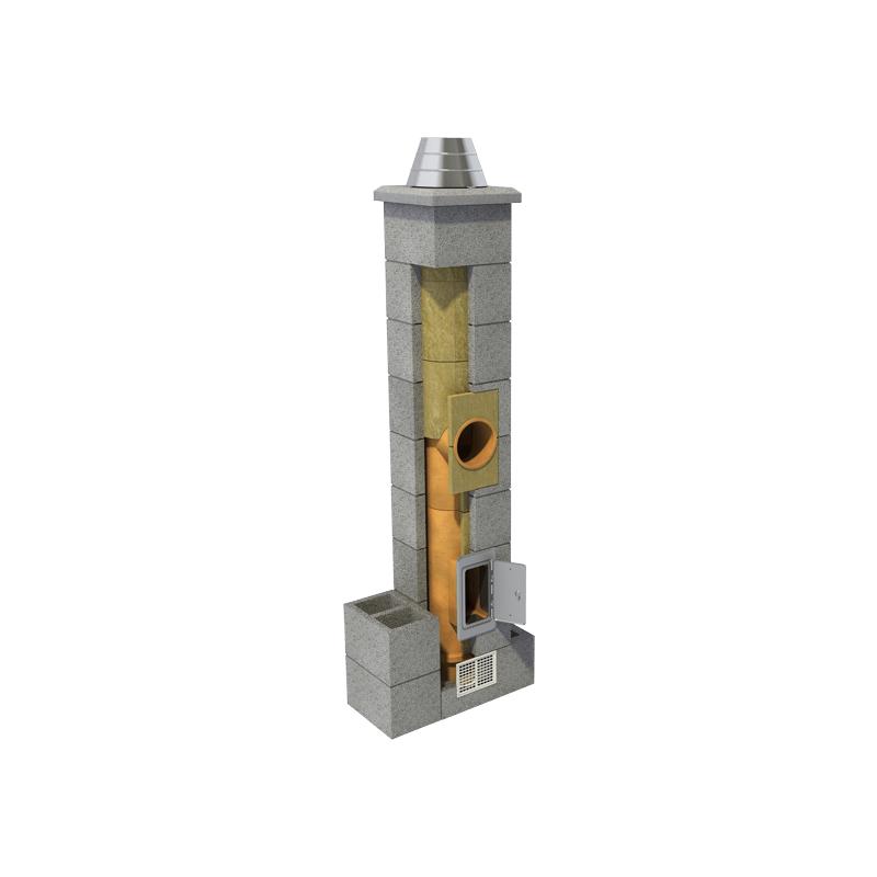 Erfe moodulkorsten 1suitsulõõr ja 1 ventilatsioonilõõr, erinevad kõrgused ja diameetrid