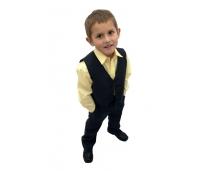 Poiste pudulik vest ja püksid, 152 cm, Must