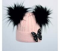Laste müts. Roosa