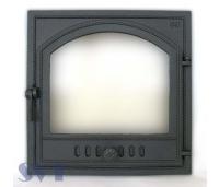 Ahjuuks 405 topeltklaasiga 1-poolne,paremakäeline,Sisemõõt: 410x410 mm, Välismõõt  500x500 mm