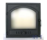 Ahjuuks 406 topeltklaasiga 1-poolne,vasakukäeline,Sisemõõt: 410x410 mm, Välismõõt  500x500 mm