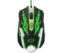 Mänguhiir  Cyborg Black/Green, juhtmega, optiline