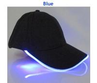 LED valgusega nokamüts, must