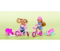 Simba nukk Evi jalgratta ja lemmikloomaga