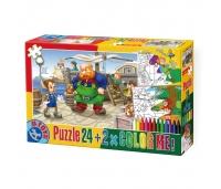 Pinocchio + 2 värviga joonist - puzzle 24 tükki