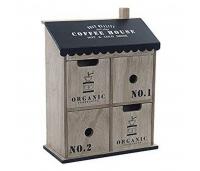 Dekoratiivne karp DKD Home Decor Coffee House Puit Cottage (23 x 10 x 31 cm)