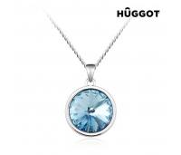 Hûggot Blue Diamond roodiumiga kaetud ripats tsirkoonidega ja Swarovski®kristallidega (45 cm)