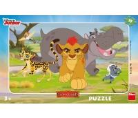 Dino väike plaatpuzzle 15 tk Lõvi
