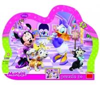 Dino siluett plaatpuzzle Minnie 25 tk