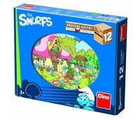 Dino puidust klotsipuzzle Smurf 12 tk