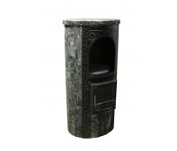 Lada, kamin+ pliit ja soojamüür (küttevõimsus 150 m3/10kW)