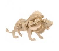 3D Puidust Pusle Lõvi Junior Knows