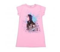 Laste pikem särk Justin Bieber, hall, roosa, 128/134