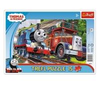 Toomas ja sõbrad puzzle 15 tk, plaatpusle